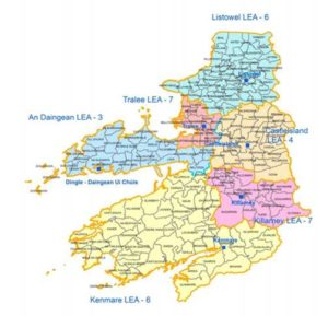 Map Of Ireland Kerry Region.Online Map Launched To Inform Voters On New Electoral Areas For 2019